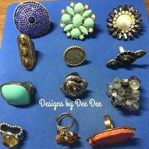 Lot of 12 Fashion Rings